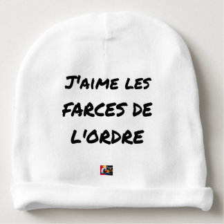 Bonnet De Bébé J'aime les FARCES de l'ordre - Jeux de Mots
