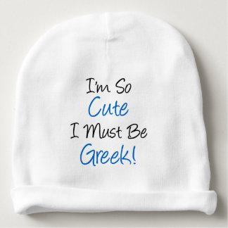 Bonnet De Bébé Je suis si mignon je dois être le casquette grec