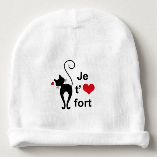 Bonnet De Bébé Je t'aime Fort Mon petit Chaton
