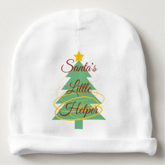 Bonnet De Bébé La petite aide de Père Noël - calotte de coton de