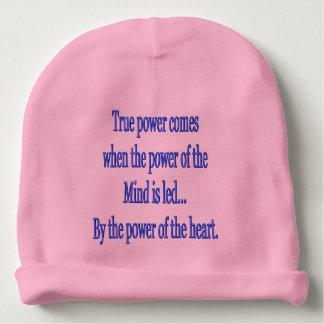 Bonnet De Bébé La puissance vraie vient quand…