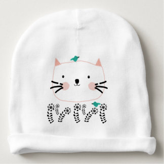 Bonnet De Bébé Le jardin du chat blanc