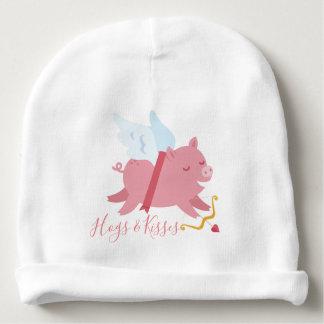 Bonnet De Bébé Le porc de cupidon accapare et embrasse la calotte