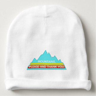 Bonnet De Bébé Les montagnes calotte de bébé satisfont et de