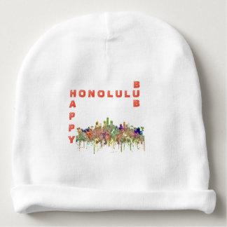 Bonnet De Bébé L'horizon de Honolulu Hawaï SG-S'est fané gloire
