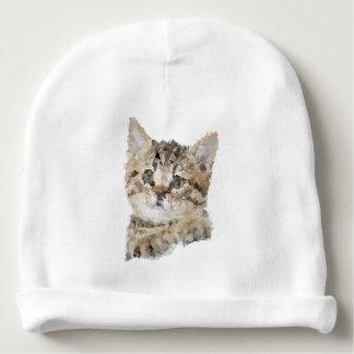 Bonnet De Bébé Low poly chaton Bébé chat Baby Cat