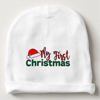 Bonnet De Bébé Ma première calotte de Noël
