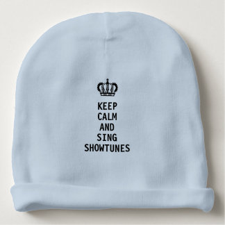 Bonnet De Bébé Maintenez calme et chantez Showtunes