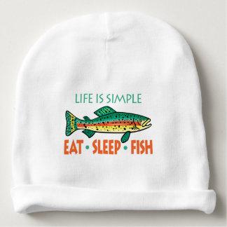 Bonnet De Bébé Mangez les poissons de sommeil - dire drôle de