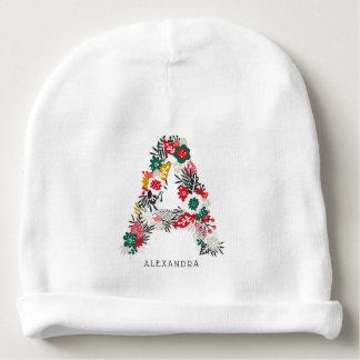 Bonnet De Bébé Marquez avec des lettres un monogramme floral  