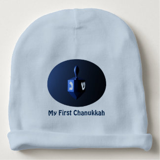 Bonnet De Bébé Mon premier Chanukkah - Dreidel bleu brillant