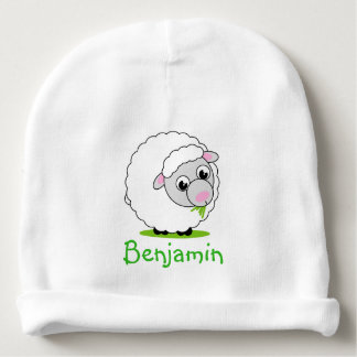 Bonnet De Bébé Moutons laineux blancs mignons et câlins de style