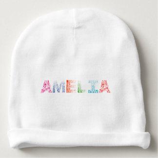 Bonnet De Bébé Nom de lettre d'Amelia