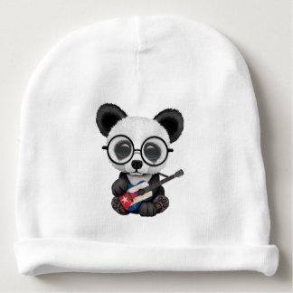 Bonnet De Bébé Panda de bébé jouant la guitare cubaine de drapeau