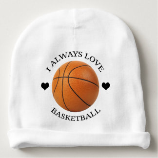 Bonnet De Bébé passion de sport d'amour de basket-ball