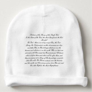 Bonnet De Bébé Phrase du trône de Dieu simple