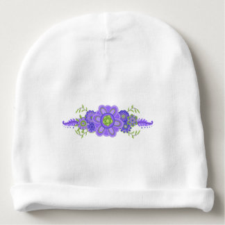 Bonnet De Bébé Pièce maîtresse assez pourpre de fleurs