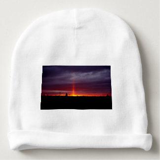 Bonnet De Bébé Pilier du feu au coucher du soleil, île de St