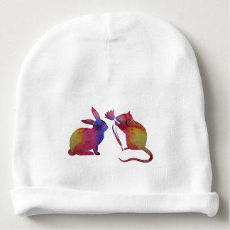 Bonnet De Bébé Rat et lapin