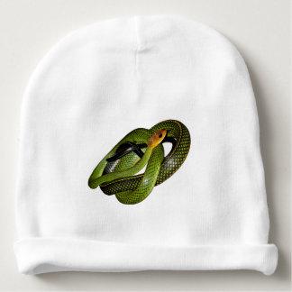 Bonnet De Bébé Ratsnake Noir-mis en marge ou serpent de rat vert
