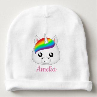 Bonnet De Bébé Tête mignonne personnalisée de visage de licorne