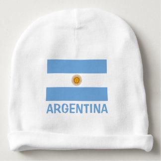 Bonnet De Bébé Texte bleu personnalisable de drapeau d'Aruba