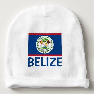 Bonnet De Bébé Texte bleu personnalisable de drapeau de Belize