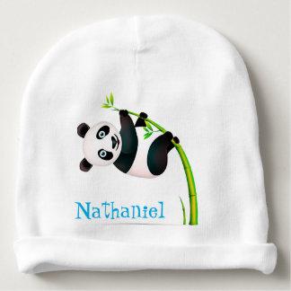 Bonnet De Bébé Tige en bambou accrochante noire et blanche de