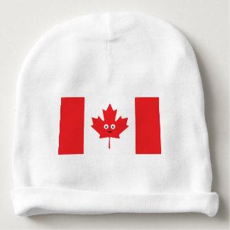 Bonnet De Bébé Visage canadien de feuille d'érable