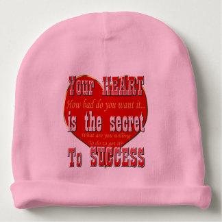 Bonnet De Bébé Votre coeur est le secret au succès