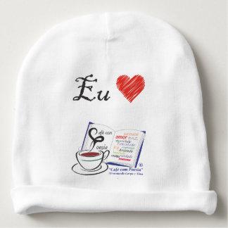 Bonnet infantile 1 Love Café avec Poésie Bonnet De Bébé