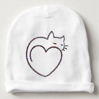 """Bonnet pour bébé «Heart Cat """" Bonnet De Bébé"""