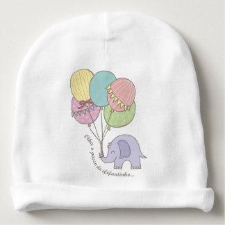 Bonnet Regarde l'Étape de l'Elefantinho Bonnet De Bébé