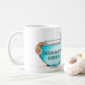 Bons amis et bonne tasse de café