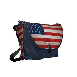 Bookbag blanc de drapeau et bleu rouge américain p besace