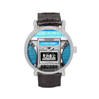 Boombox bleu montres