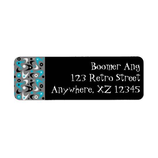 Boomerang personnalisable étiquette d'adresse retour