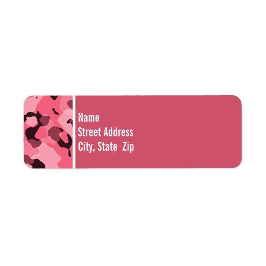 Bord Camo rose ; Personnalisé Étiquette D'adresse Retour