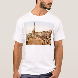 Bord de la mer antique de Blackpool les Anglais T-shirt