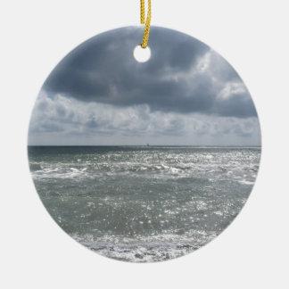 Bord de la mer de plage de Pise de Di de marina. Ornement Rond En Céramique