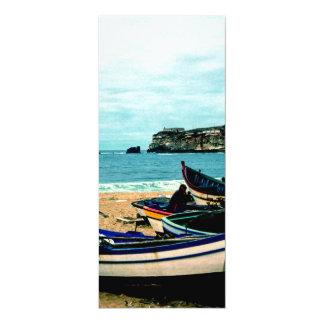 Bord de la mer IV du Portugal - bateaux colorés Cartons D'invitation