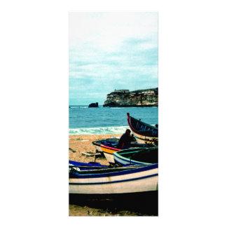 Bord de la mer IV du Portugal - bateaux colorés su Cartons D'invitation