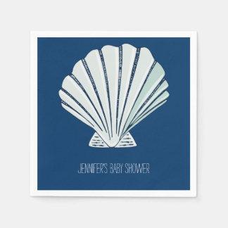 Bord de la mer nautique Shell Serviettes En Papier