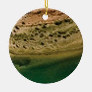 bord de lac ornement rond en céramique