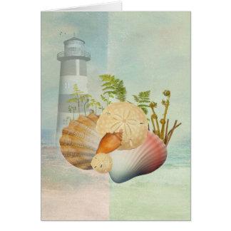 Bord de mer et cartes de voeux de Sheels