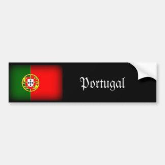 Bord de noir de drapeau du Portugal Autocollant Pour Voiture