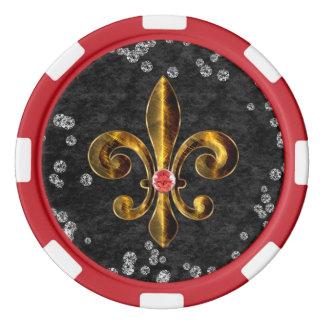 Bord rayé rouge de jeton de poker d'argile rouge