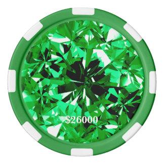 Bord vert de rayure de jeton de poker d'argile de