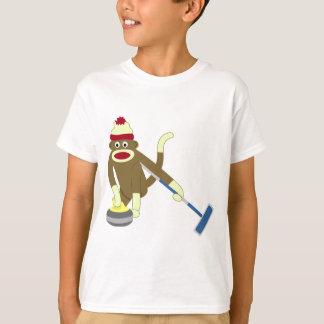 Bordage olympique de singe de chaussette t-shirt