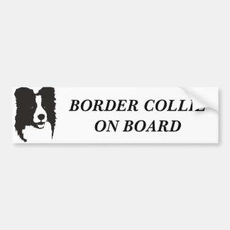 Border collie à bord autocollant de voiture